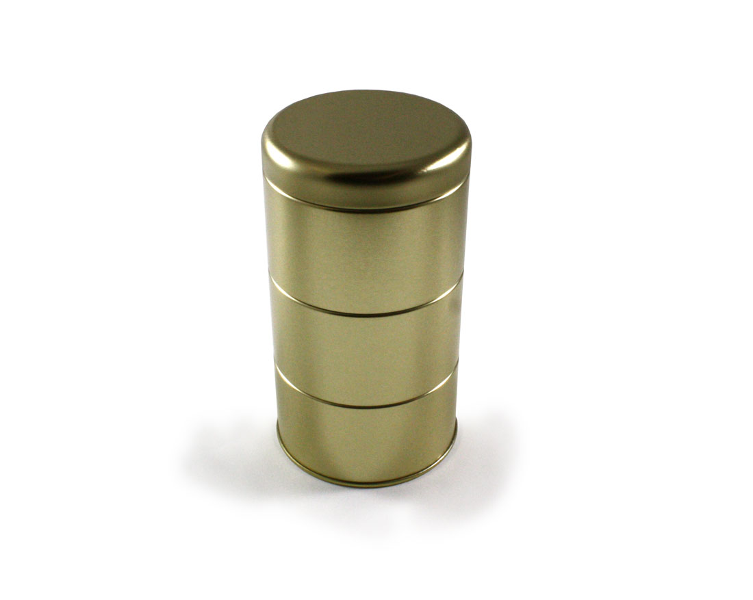 Gold 3-tier cannister