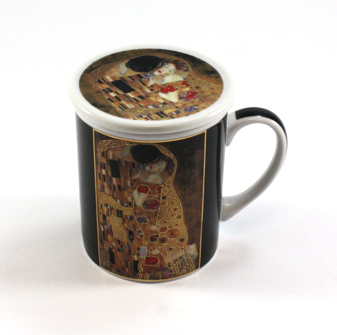 klimt kiss infuser mug. Black Bedroom Furniture Sets. Home Design Ideas