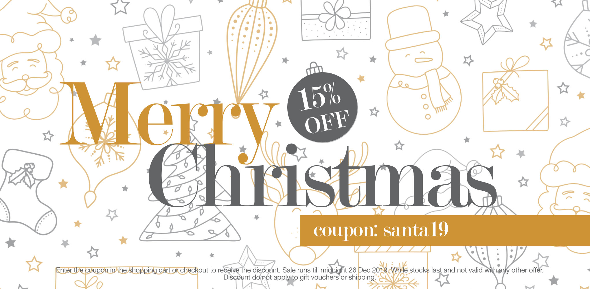 15% off SALE Merry Christmas