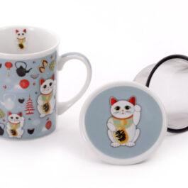 Lucky Cat Infuser Mug